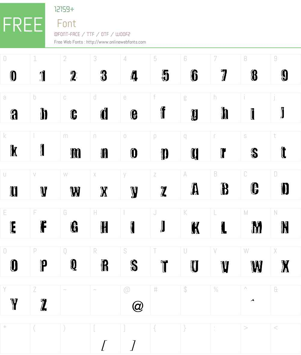 fz-wencang-062 Font Screenshots