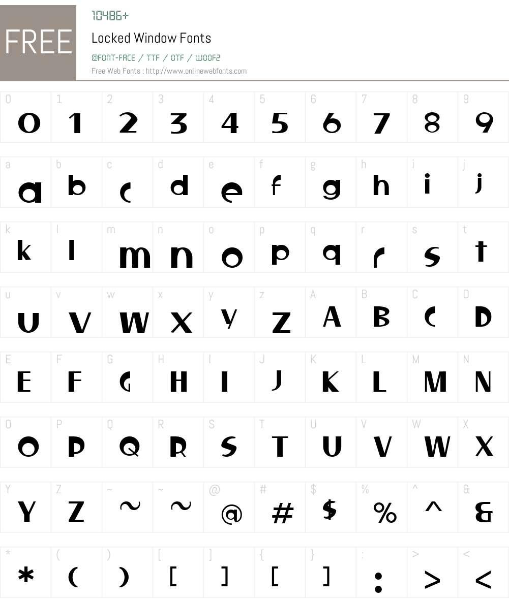 Locked Window Font Screenshots