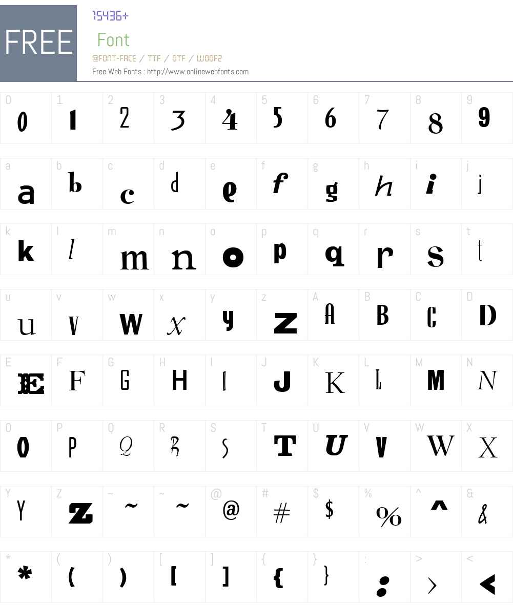 Ransom Font Screenshots