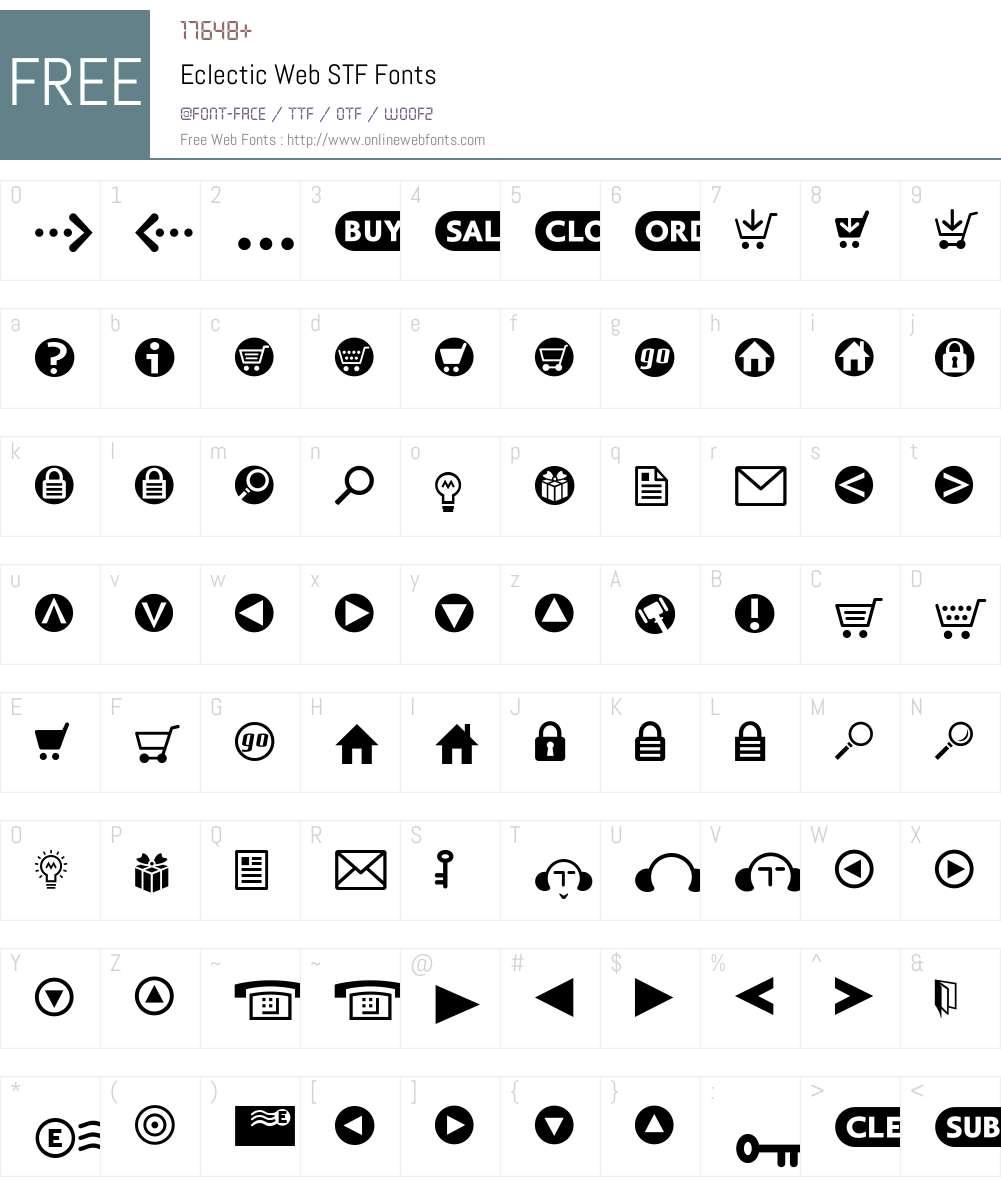 EclecticWebSTF Font Screenshots