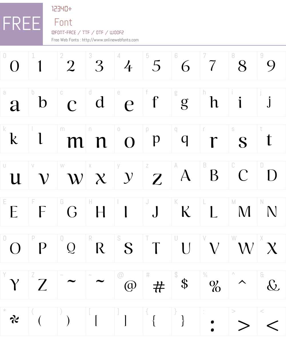 CaturritaDisplayW00-Reg Font Screenshots