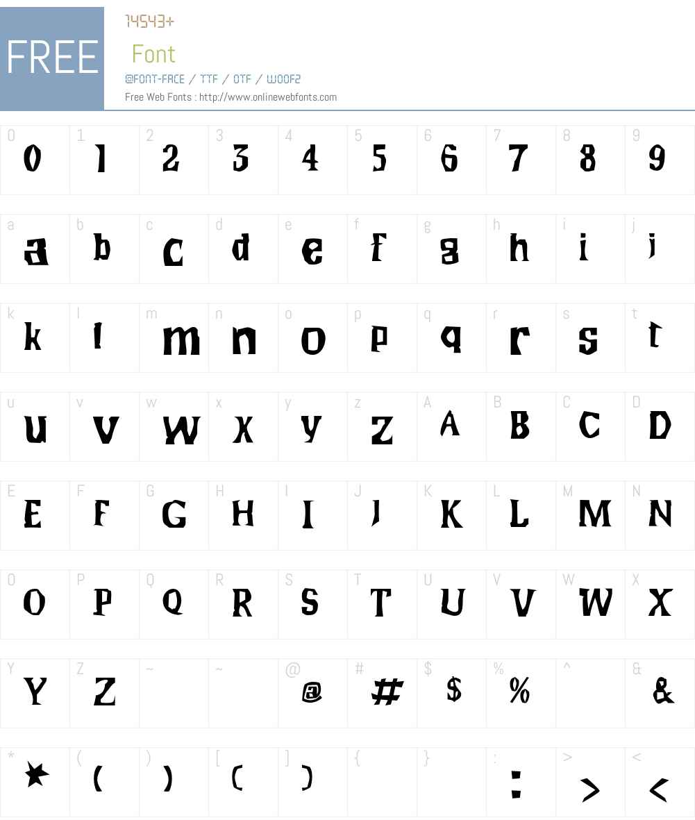 Wilma Font Screenshots