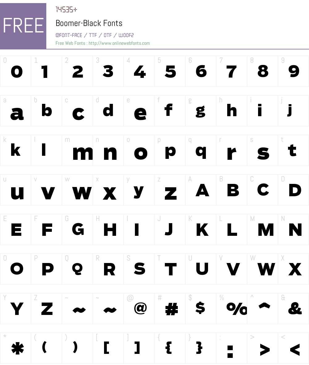 Boomer Black Font Screenshots