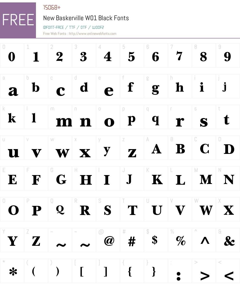 NewBaskervilleW01-Black Font Screenshots