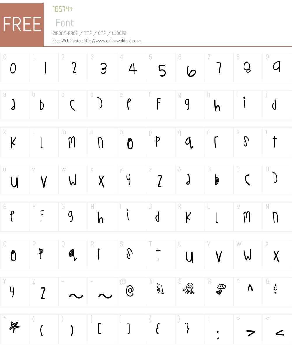 TurtleWishes Font Screenshots