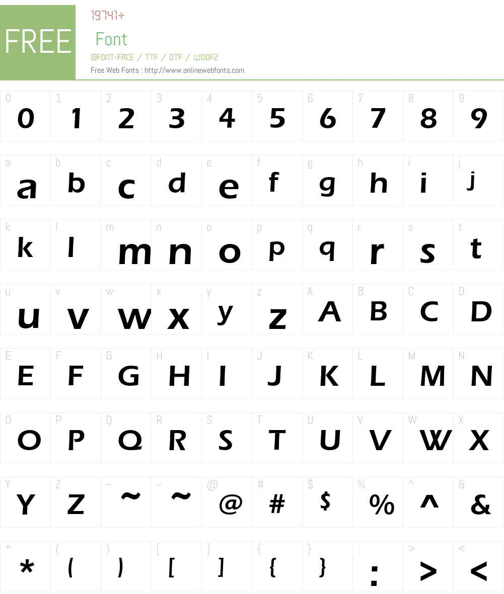 ErasEF Font Screenshots
