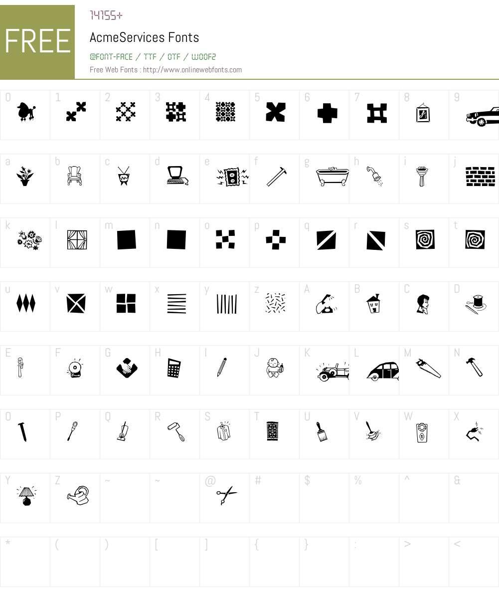 AcmeServices Font Screenshots