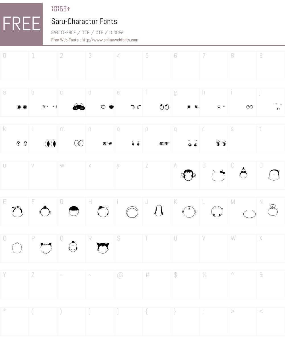 Saru-Charactor Font Screenshots