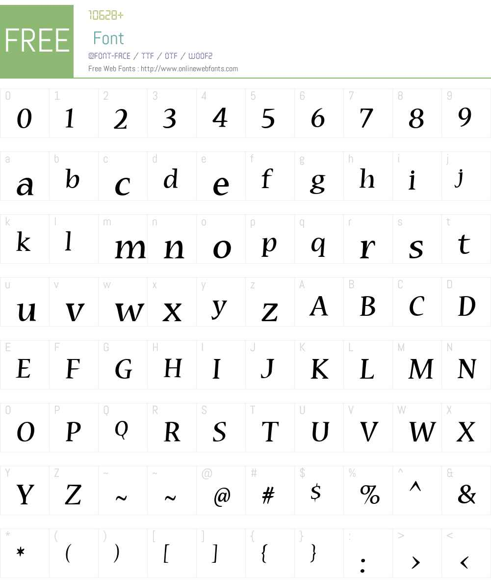 Cybatiqua Font Screenshots