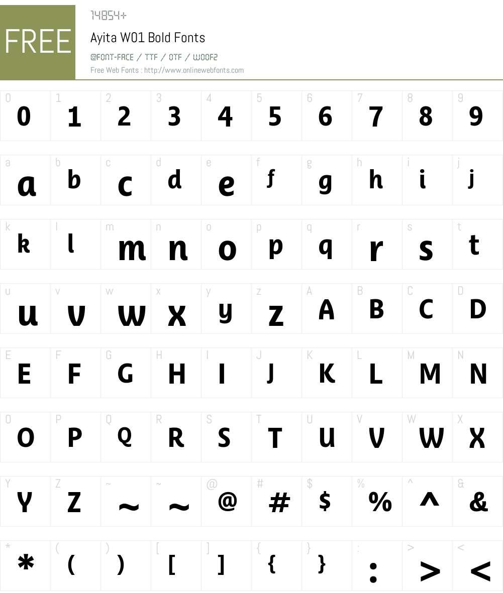 AyitaW01-Bold Font Screenshots