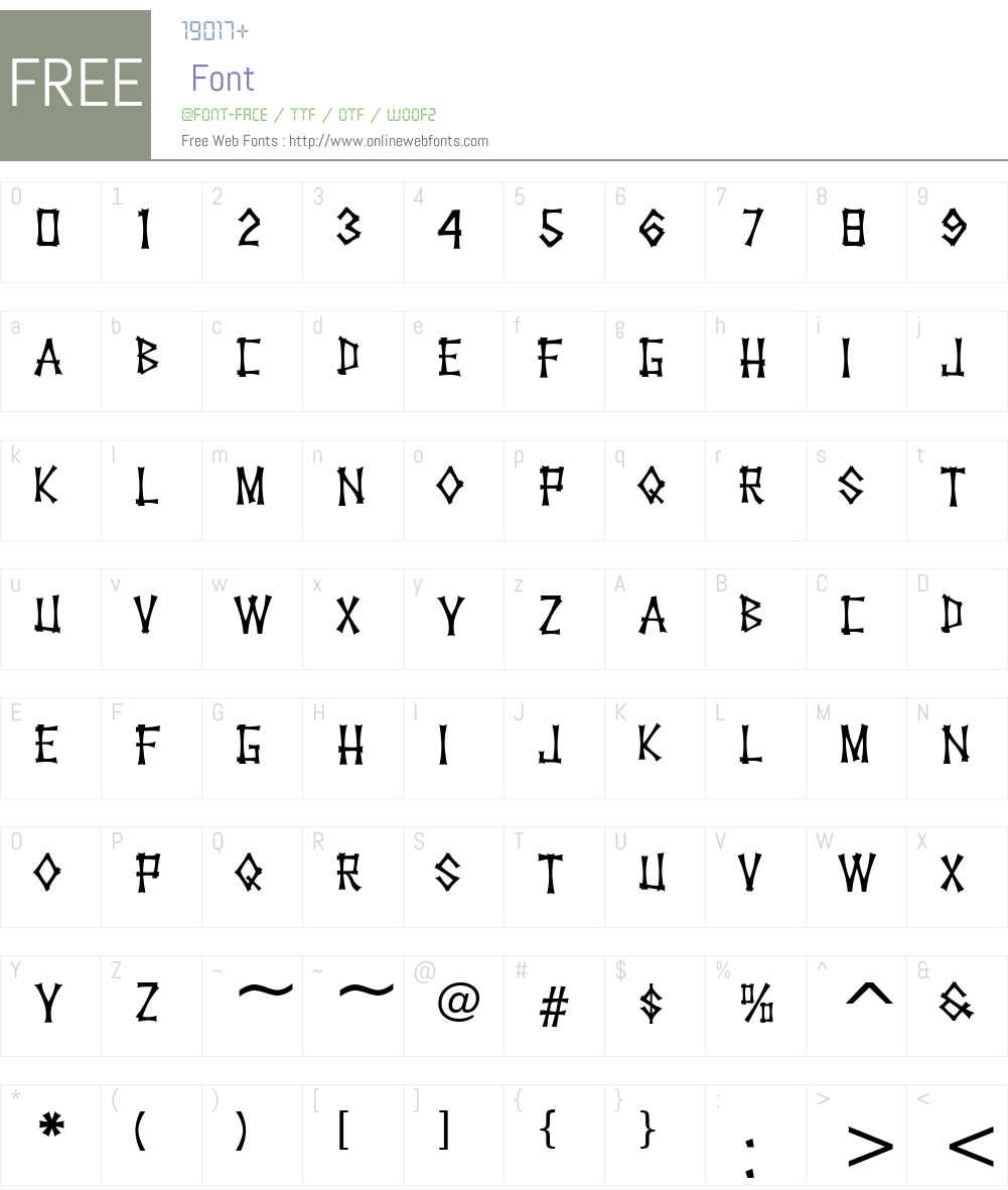 KonTikiHulaJF Font Screenshots