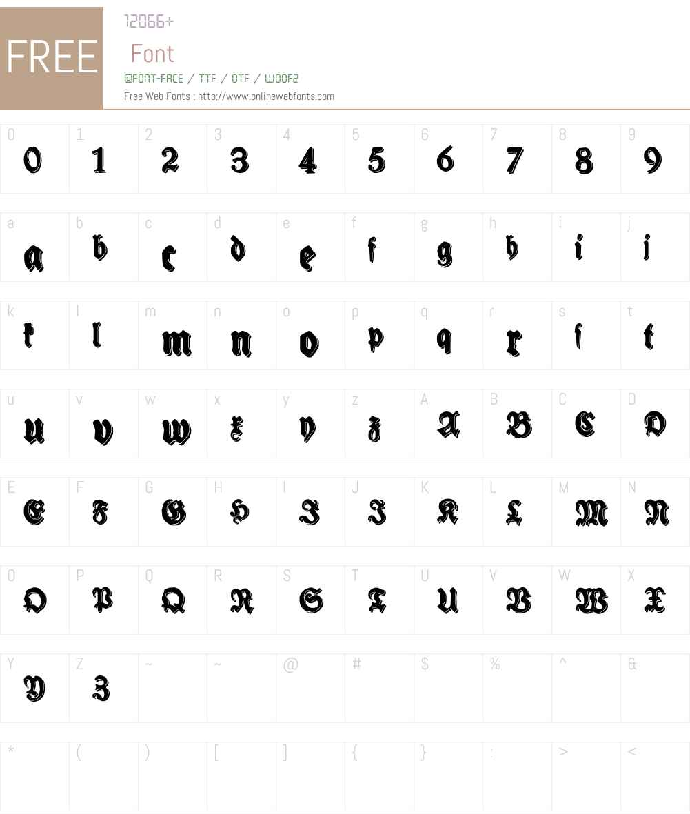 Schneidler Halb Fette Shadow Font Screenshots