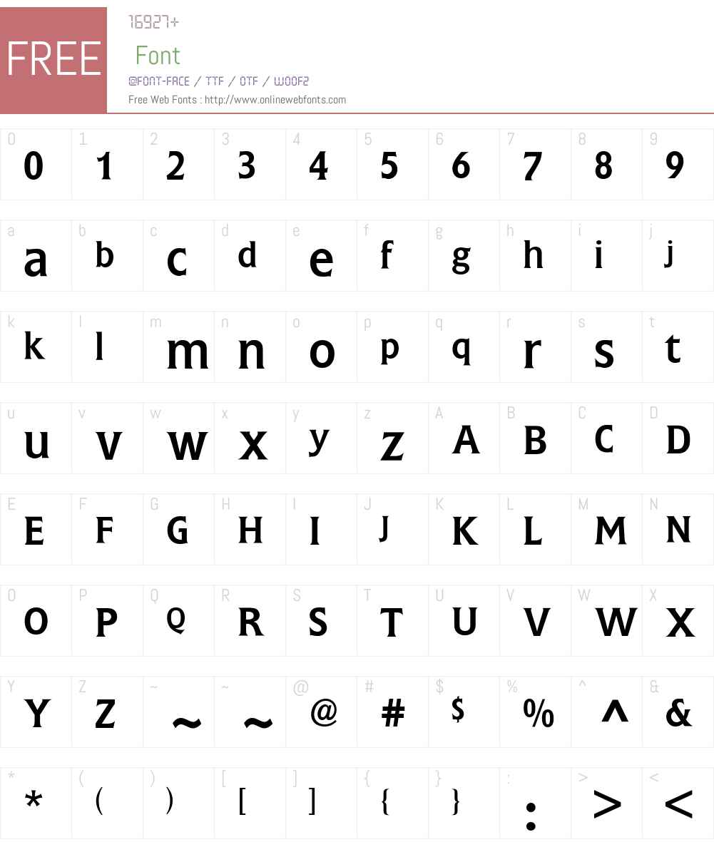 Flange BQ Font Screenshots