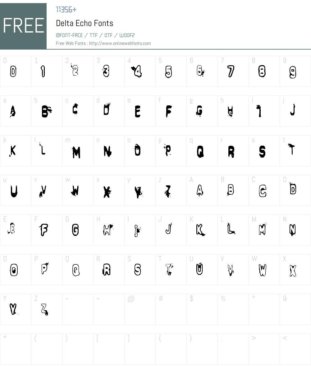 Delta Echo Font Screenshots