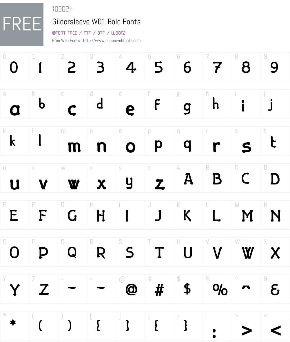 GildersleeveW01-Bold Font Screenshots