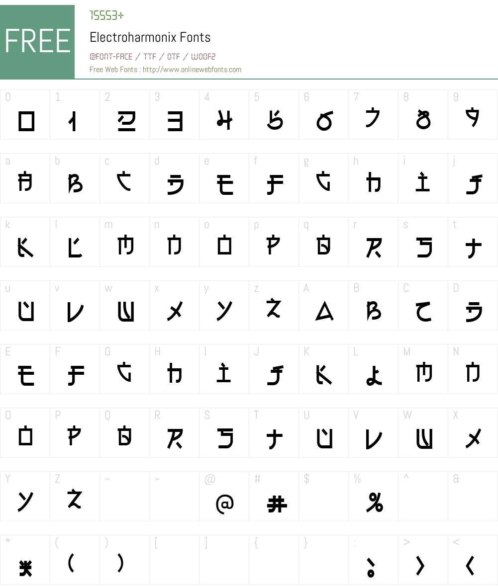 Electroharmonix Font Screenshots