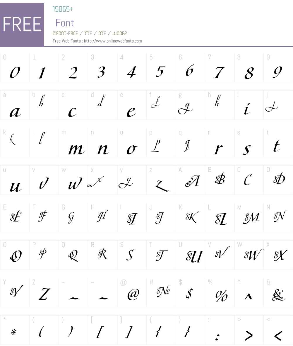 MaestroW01-CBold Font Screenshots