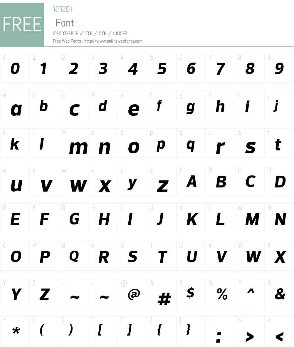 Prelo Font Screenshots