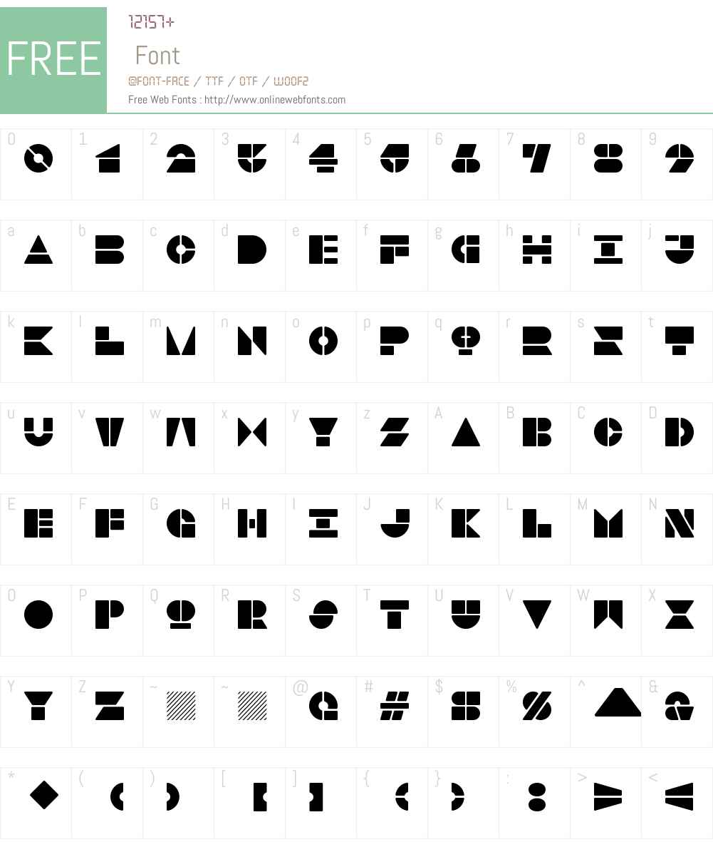2f6f72fbcae3d5d6 - subset of Woodkit Solid Pro Blocks Font Screenshots