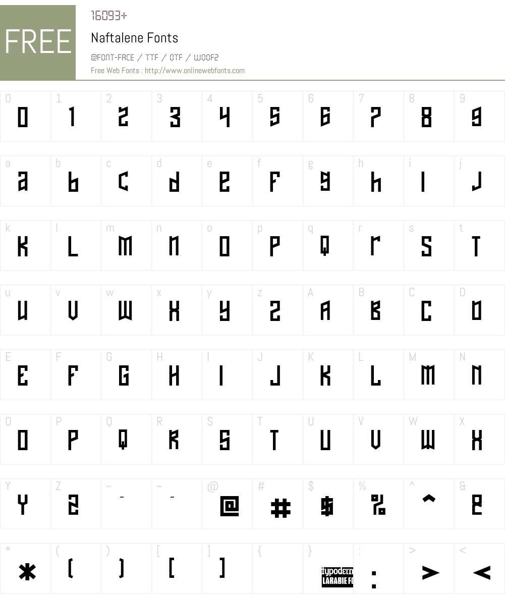 Naftalene Font Screenshots