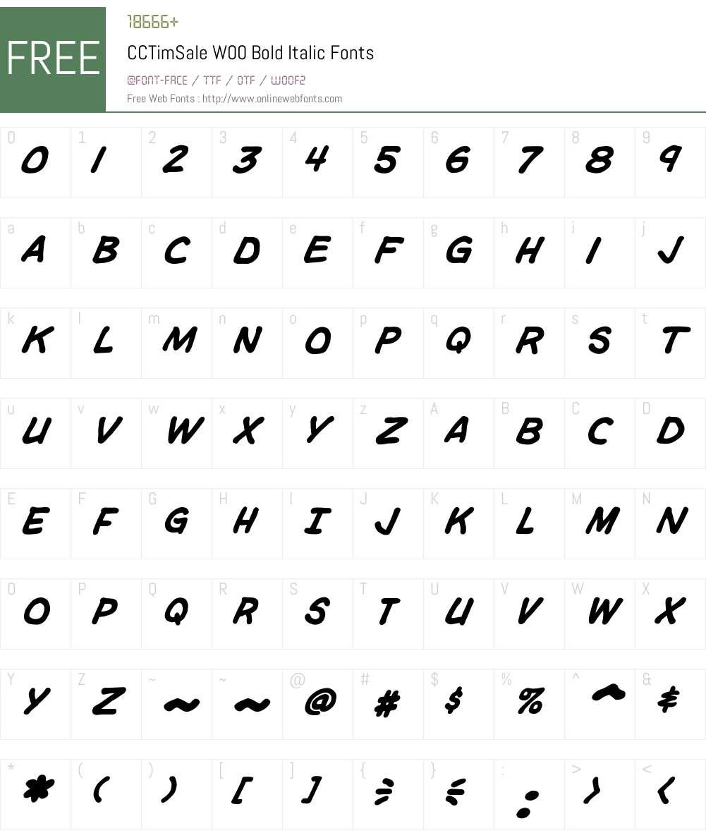CCTimSaleW00-BoldItalic Font Screenshots