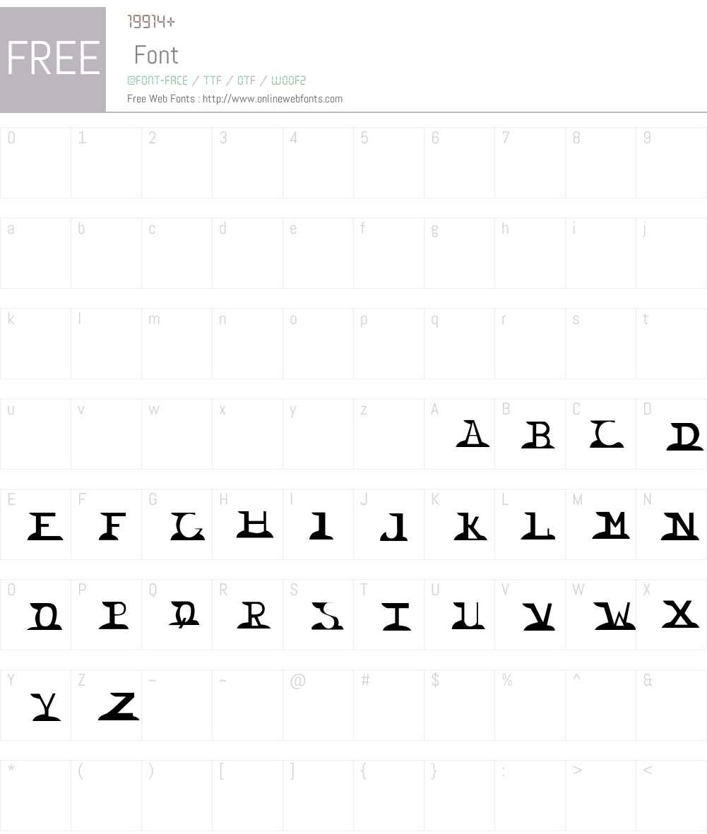 Wingnut Font Screenshots