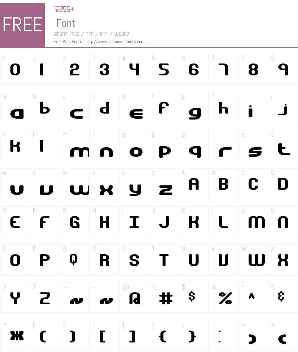Gravitate BRK Font Screenshots