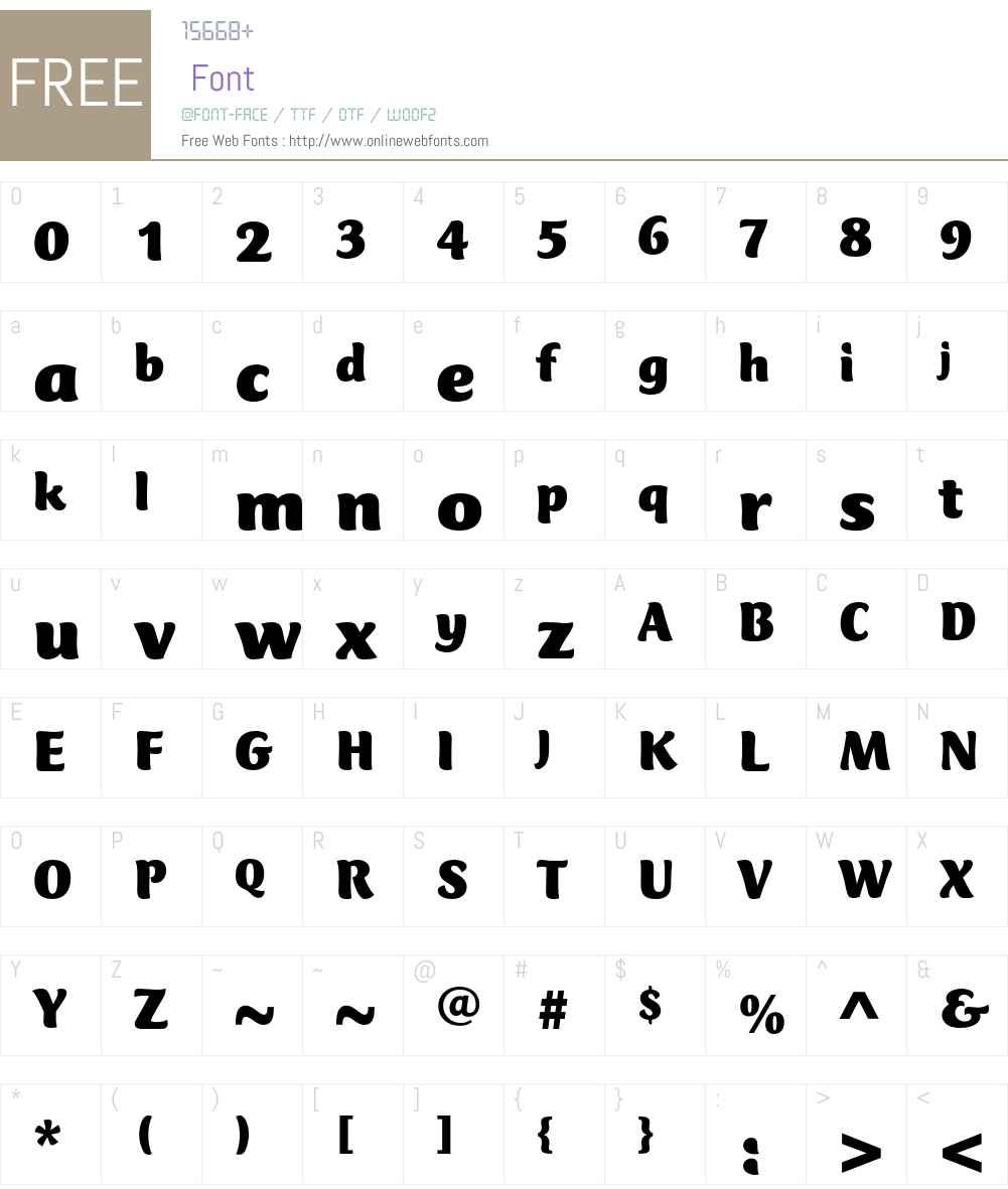 Club Type Mercurius Font Screenshots