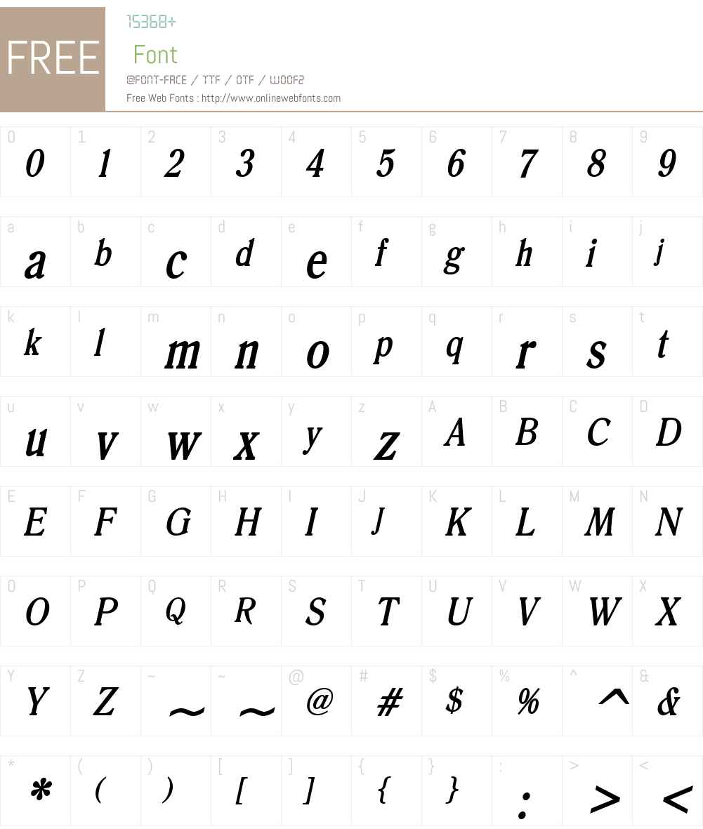 Roomy Condensed Font Screenshots