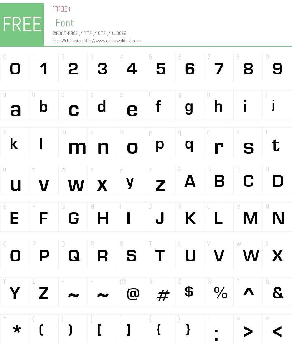 Eurose Font Screenshots
