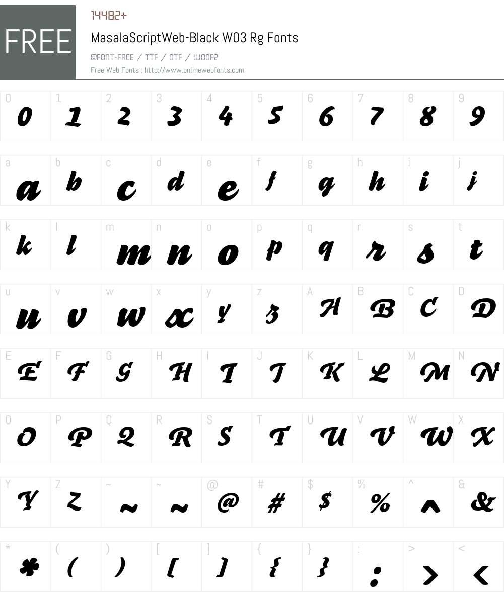 FF Masala Script Font Screenshots