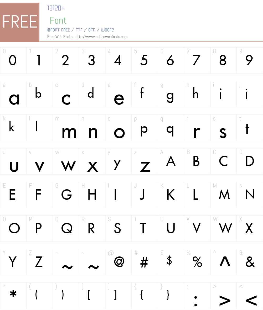 Kudos SSi Font Screenshots