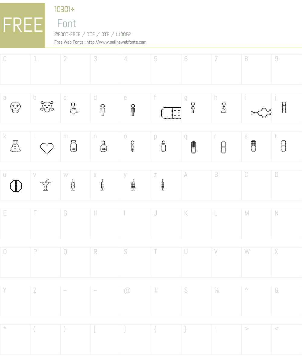 PharmaPicto Font Screenshots