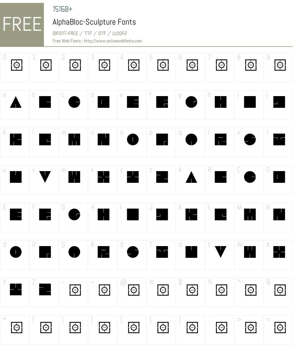 AlphaBloc Font Screenshots