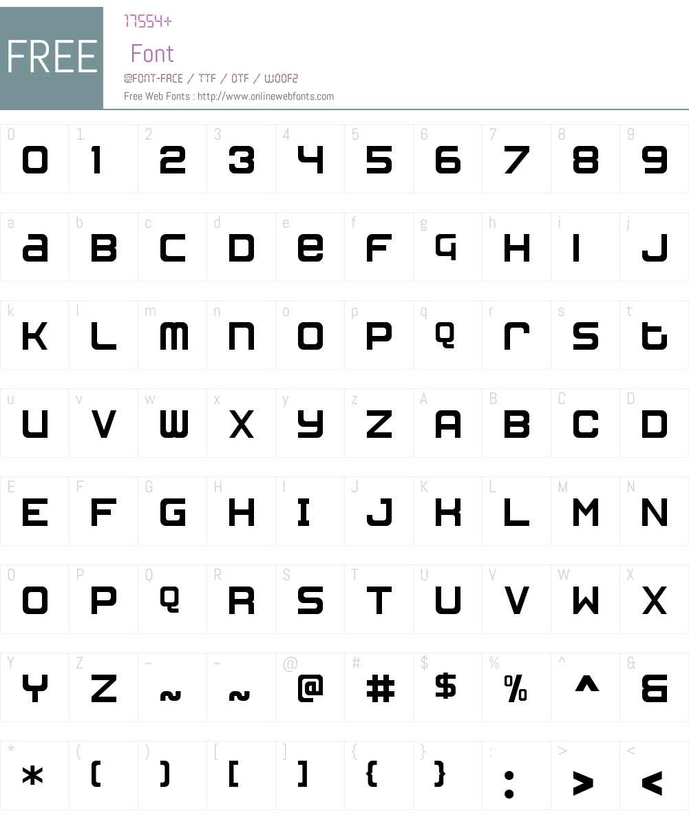 MetroGothic Font Screenshots