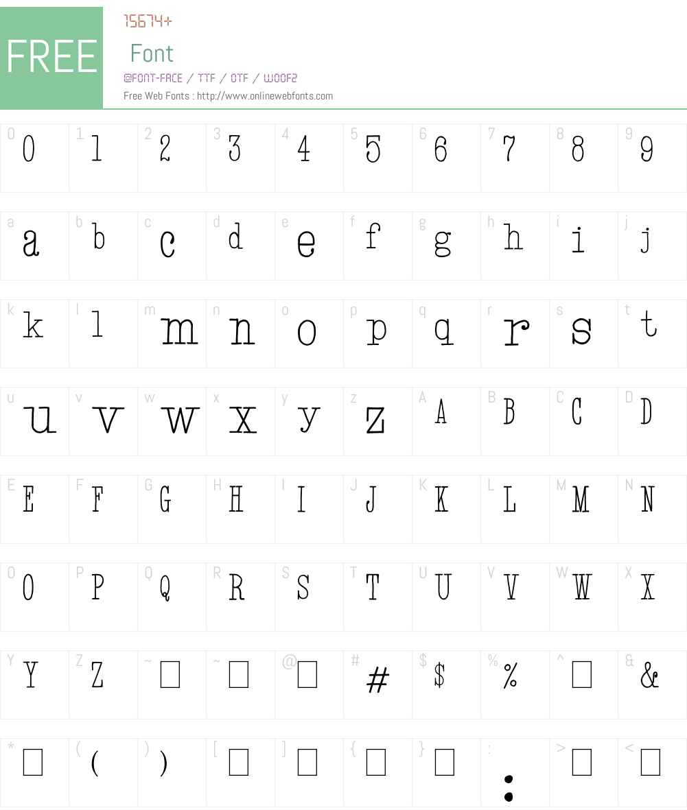 Hand TypeWriter Font Screenshots