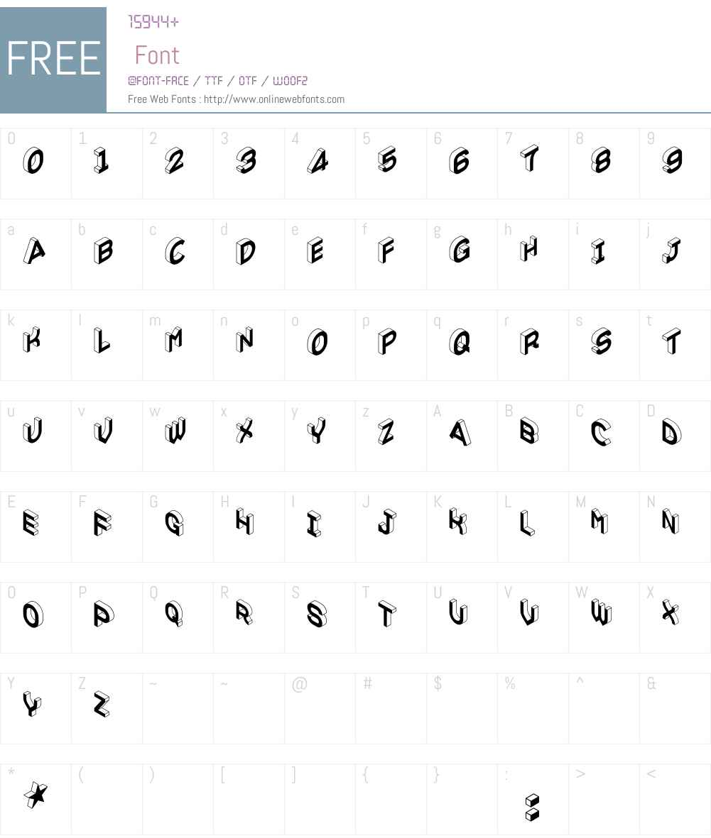 VolumeW00-Regular Font Screenshots