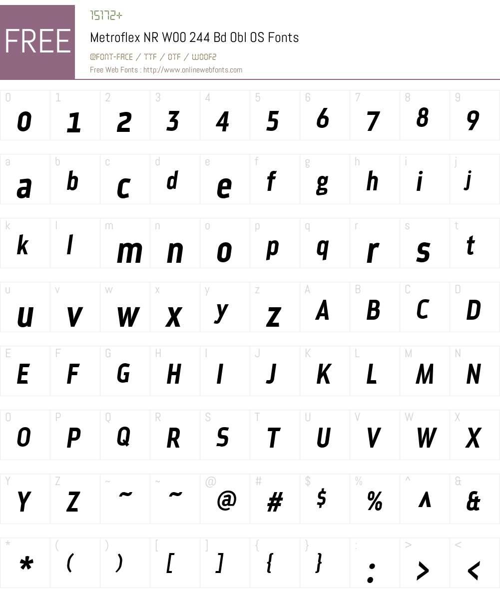 Metroflex Narrow Font Screenshots