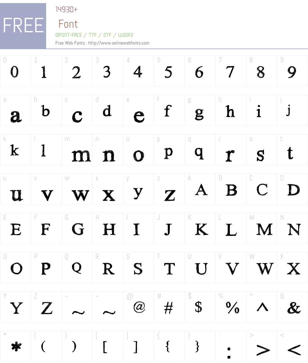 HandTIMES Font Screenshots