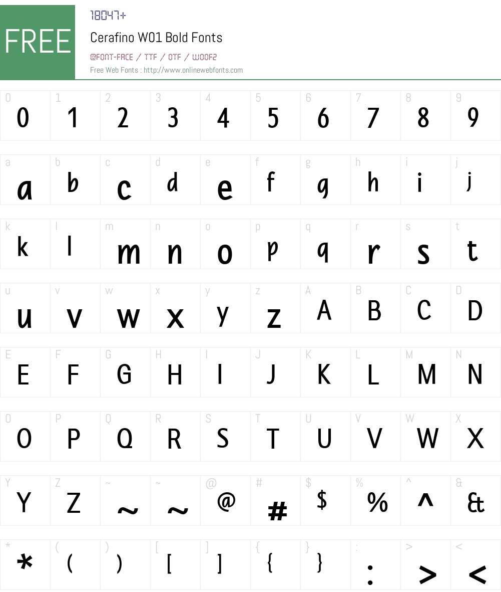 CerafinoW01-Bold Font Screenshots