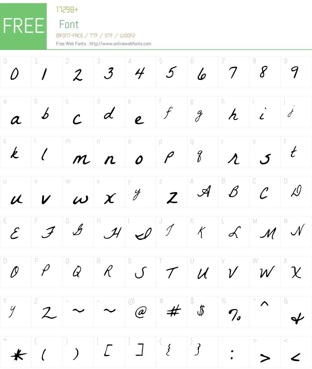 La Belle Aurore Font Screenshots