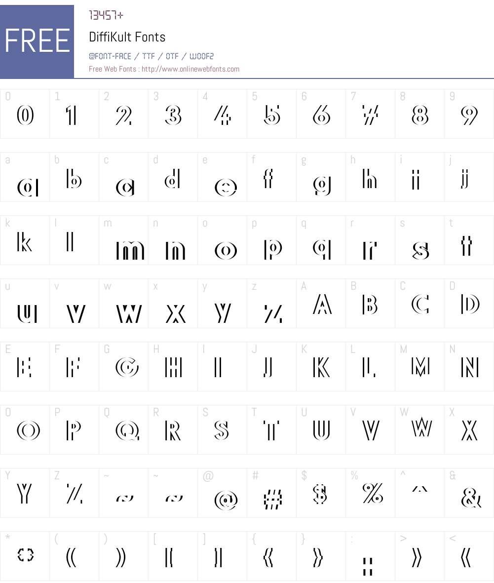 DiffiKult Font Screenshots