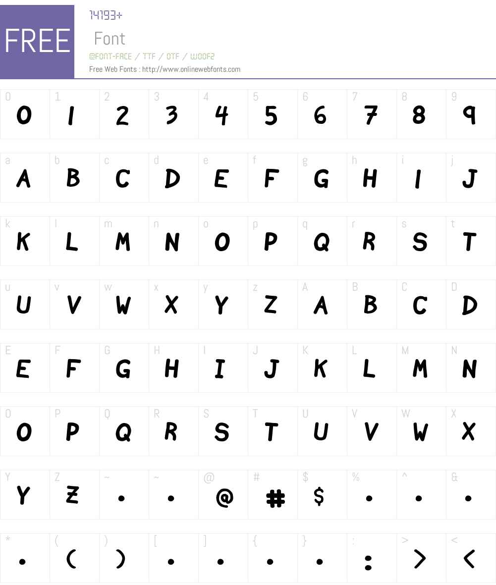 Ninjascript Font Screenshots