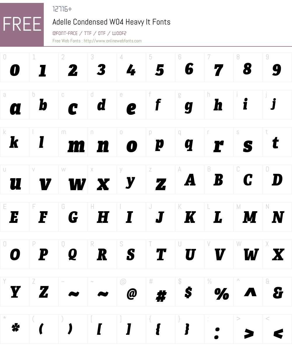 Adelle Condensed Font Screenshots