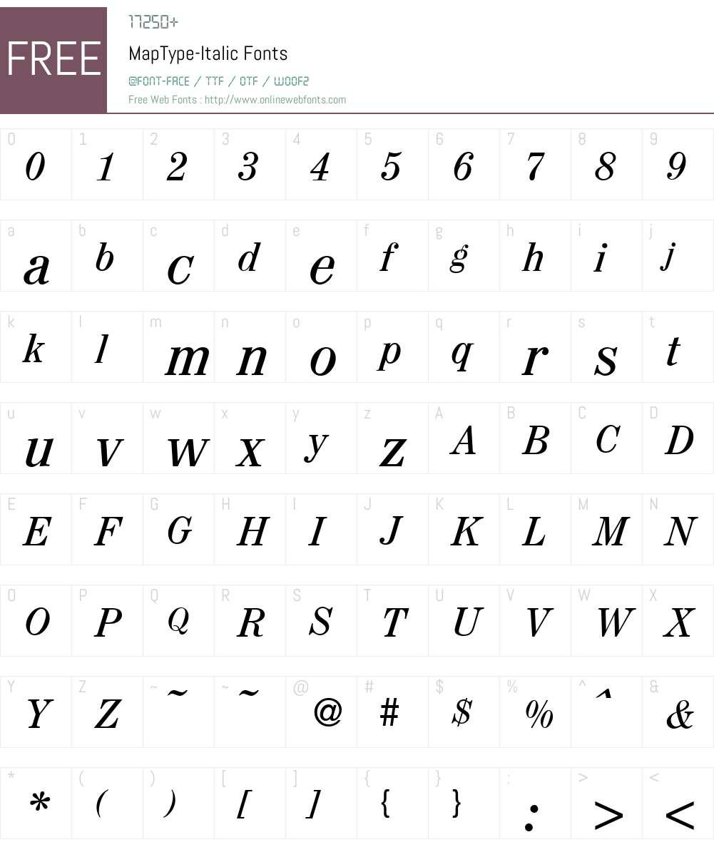 MapType Font Screenshots
