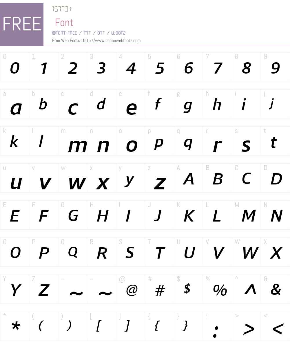 QuboW01-MediumItalic Font Screenshots