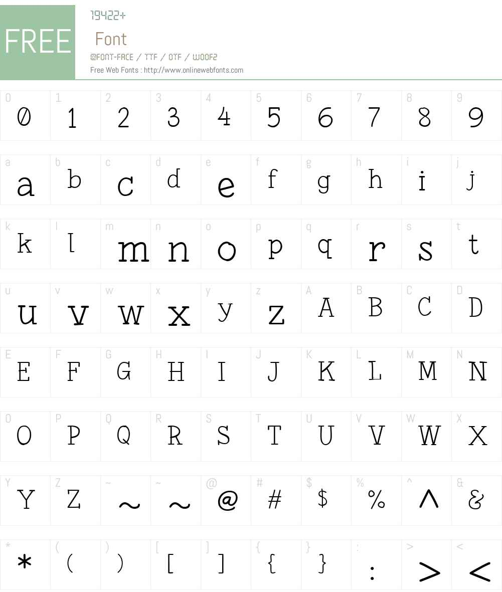 Fonesia Light Font Screenshots