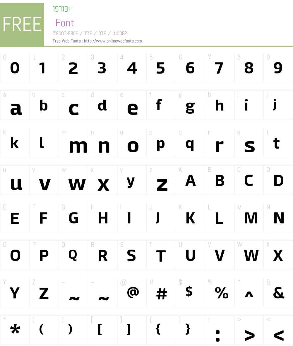 MangericaW00-Bold Font Screenshots