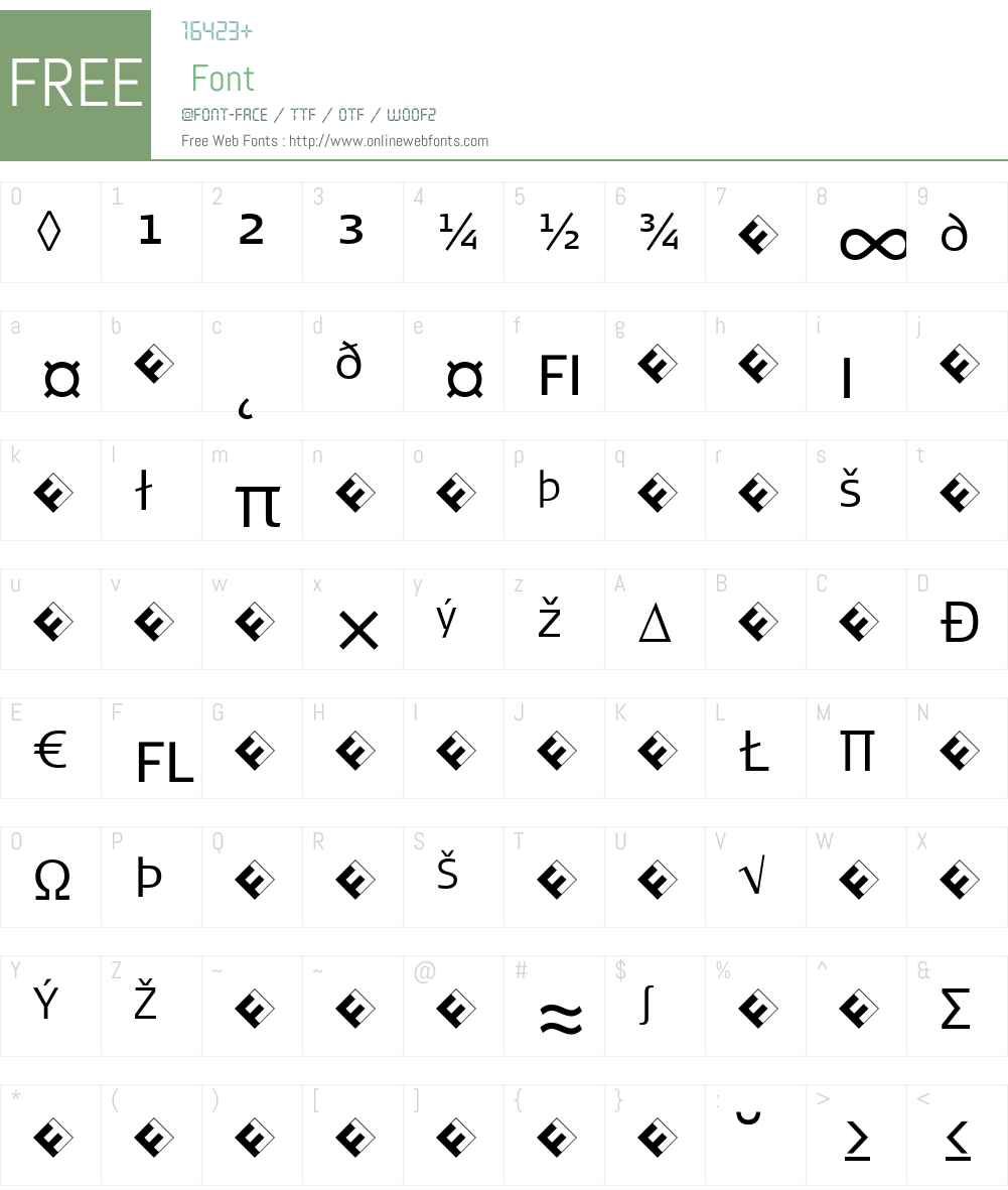 SignaCaps-LightExpert Font Screenshots