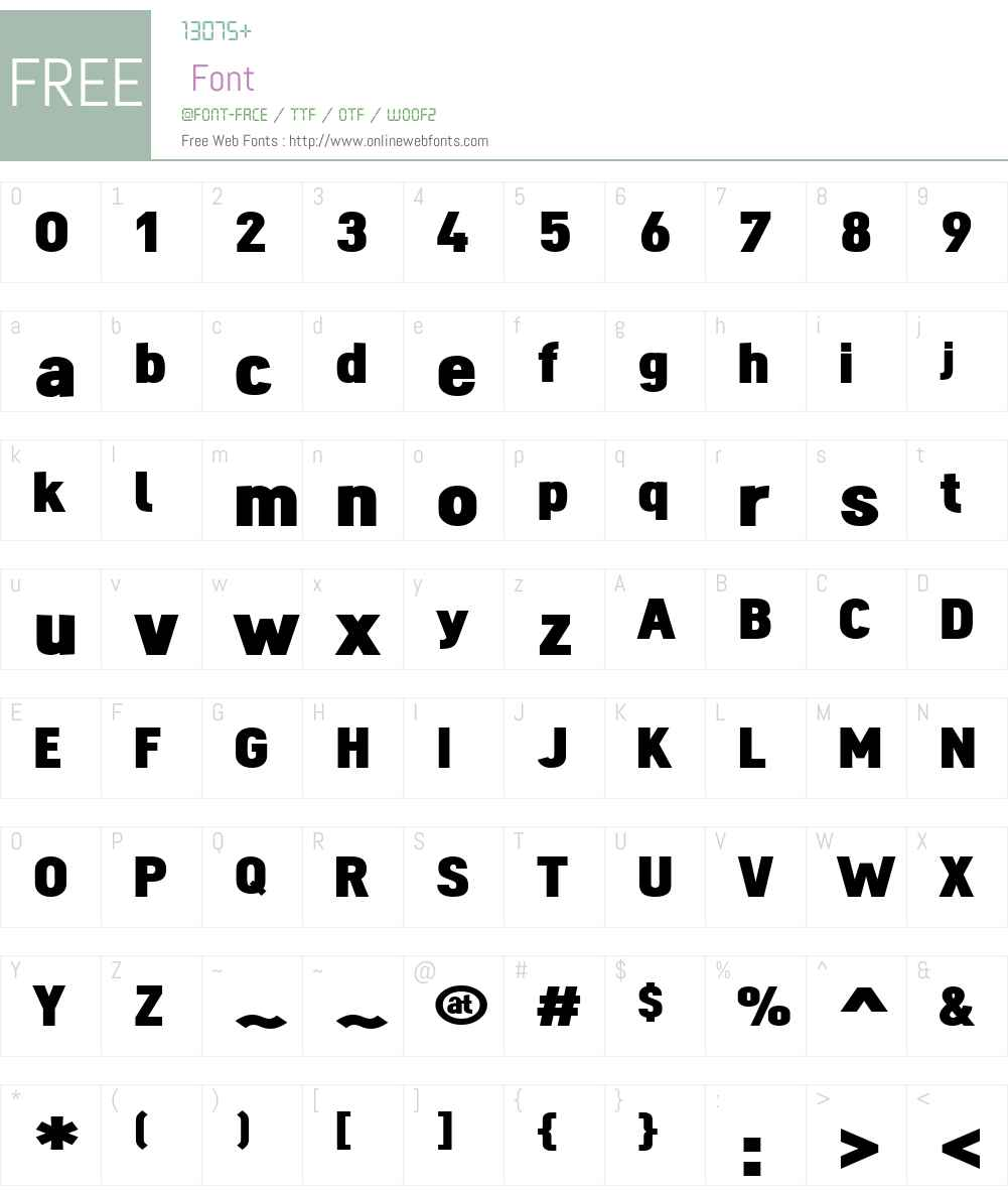 Dinova Font Screenshots